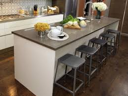 white kitchen island table with brown wooden counter top for small