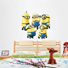 Removable Wall Stickers Despicable Me Minions Animal Pattern DIY