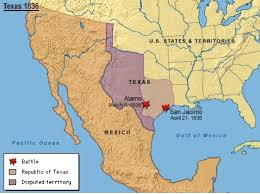 map of mexico 1821 the alamo and independence from mexico for free