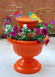 Flower Pot Bird Bath - 12 diy bird bath ideas to attract birds to your garden