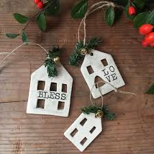 house ornaments set of 3