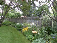 Fence Line Landscaping by Loft U0026 Cottage Plants Along Fence Line Landscape Design