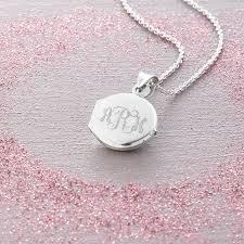 monogram locket personalised sterling silver monogram locket by hurleyburley