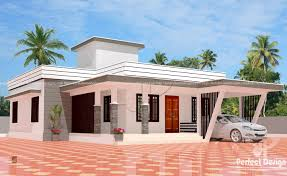 3 bedroom modern flat roof house layout u2013 kerala home design