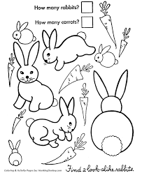 easter bunny coloring pages count the easter bunnies honkingdonkey