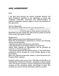 software maintenance agreement template with menu template word free
