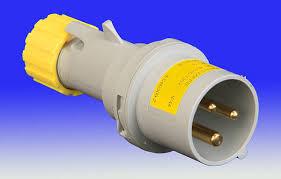 110v 16 amp 3 pin plug yellow