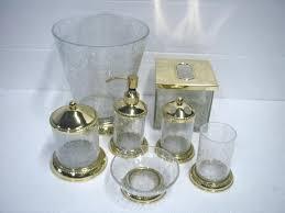 glass bath accessory sets u003d art deco accessories