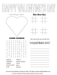 valentines day activity sheets www bloomscenter com