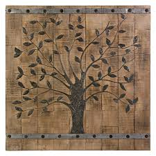 Wood Panel Wall Decor by Imax Tree Of Life Wood Wall Panel 36w X 36h In Hayneedle
