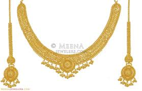 small gold necklace sets images 22k yellow gold set stgd10501 22k gold necklace set is jpg