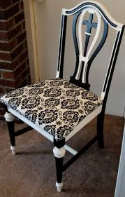 Damask Chair The Broken Chair Challenge Upcycled Black And White Damask Chair
