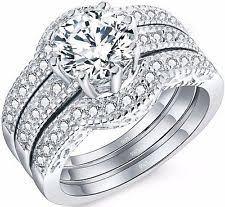 Wedding Rings Sets by Engagement U0026 Wedding Ring Sets Ebay
