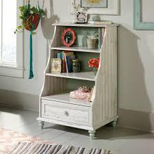 Sauder Bookcase 5 Shelf by Sauder Eden Rue Accent Bookcase With Drawer White Plank Finish