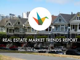 Commercial Real Estate Presentation Template by Real Estate Market Trends Report By Reusable Template