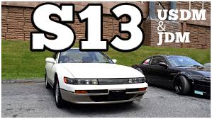 jdm nissan silvia s13 regular car reviews 1989 nissan s13 silvia 240sx youtube