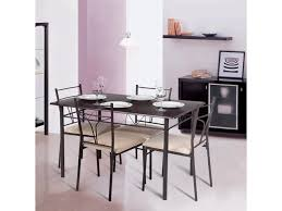 kitchen furniture set ikayaa 5pcs modern metal frame dining kitchen table chairs set for