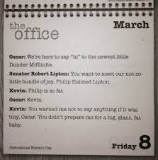 The Office Desk Calendar Philip Is So Hr Of The South