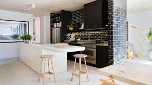 black and white galley kitchens the best home design