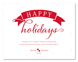 business christmas cards plantable business cards on seeded paper wintertime by
