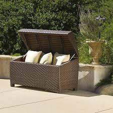 deck storage box waterproof patio furniture storage ottoman bin