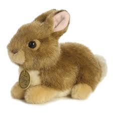 stuffed bunny realistic stuffed baby bunny 7 miyoni plush by