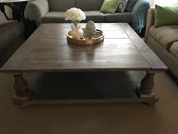 diy square coffee table ana white large square balustrade coffee table diy projects