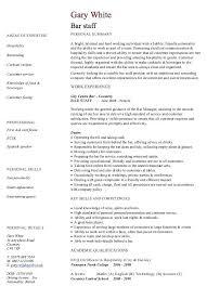 bartending resume template bartender resume format bar staff resume template best resume format