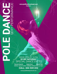 pole dance flyer psd template psd free download