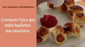 cuisiner des saucisses cuisiner des minis feuilletés aux saucisses les astuces étudiantes