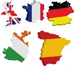 Map Of European Countries 3d Flag Maps Of European Countries Royalty Free Cliparts Vectors