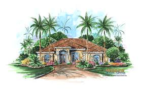 Spanish Home Plans Villa Verano Home Plan Weber Design Group Naples Fl
