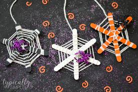Halloween Crafts For Classroom Party by Craft Stick Spiderwebs Halloween Craft Typically Simple