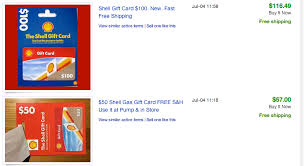 gasoline gift cards when gift cards sold on ebay don t make sense