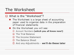 the worksheet the accounting cycle where we are 1 journalize