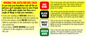 tachometer wiring diagram u0026 wiring diagrams