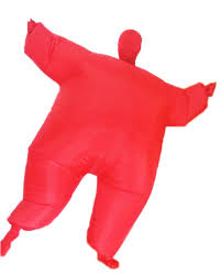 halloween cosplay costumes pure color fat suit the invisible
