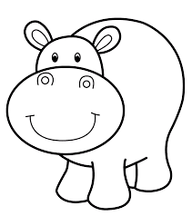 hippo coloring pages printable free coloring sheets pinterest