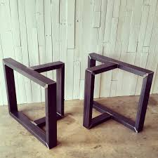 in metal table legs urban ironcraft metal table legs and bases