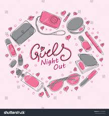 Design Invitation Cards Girls Night Out Party Invitation Card Stock Vector 213310486
