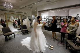 wedding dress shops london david s bridal believes new upscale store will be more engaging