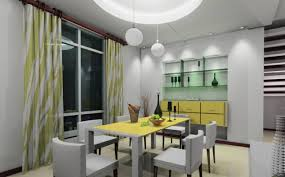 yellow and gray dining room home