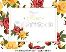 roses and butterflies wedding invintation with roses clipart