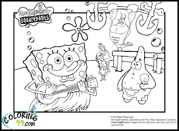 download coloring pages free spongebob coloring pages free