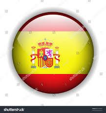 flag spain spanish flag glossy button stock vector 46763989