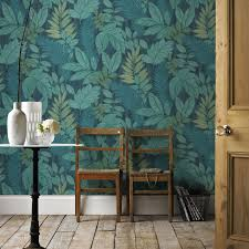 graham u0026 brown tropical storm green u0026 blue foliage wallpaper