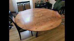 square table with leaf round to square drop leaf table top youtube