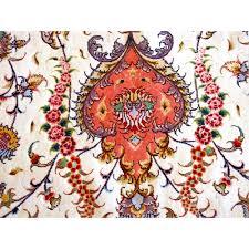 Red Oval Rug Tabriz Oval Silk And Wool Rug Oriental Rugs