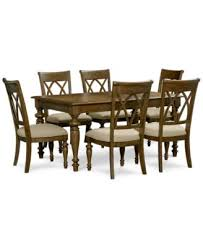 oak harbor 7 pc dining set table u0026 6 side chairs 40x62