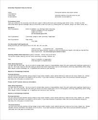 College Internship Resume Examples by Sample Internship Resume 7 Examples In Word Pdf